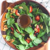 Spinach salad with s