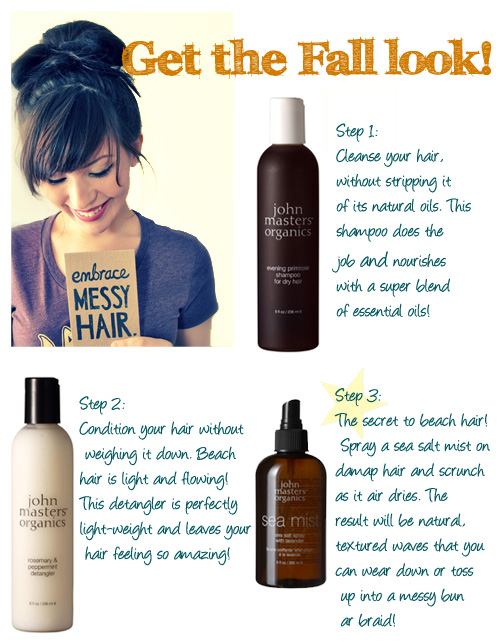 Get the Fall look! Easy, breezy hair!