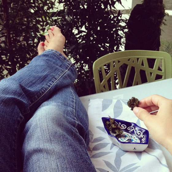 Relaxing with kale chips