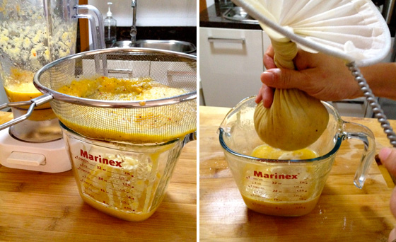 How to strain your juice with cheesecloth