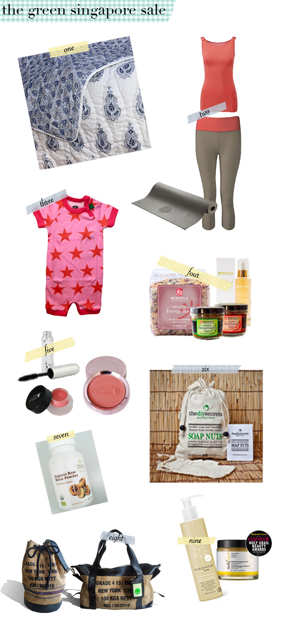 Products from the Green Singapore Sale!