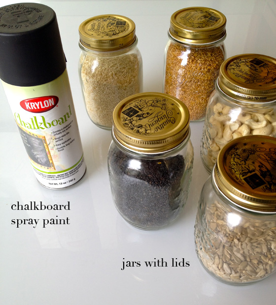 Chalkboard Spray Paint and Mason Jars with Lids