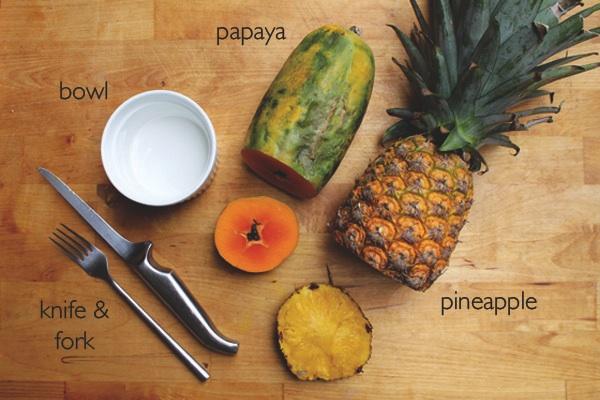 papaya-pineapple-aha-face-mask-recipe