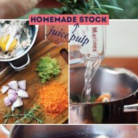 Homemade Juice Pulp Stock Recipe | littlegreendot.com