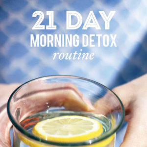 Morning Detox Routine | littlegreendot.com