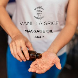 Vanilla Spice Infused Massage Oil | littlegreendot.com
