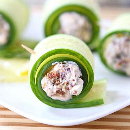 SIX: Cucumber Feta Rolls