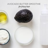 Avocado Butter Hair Smoothie | littlegreendot.com