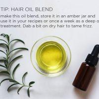 Hair Oil Blend Recipe   littlegreendot.com