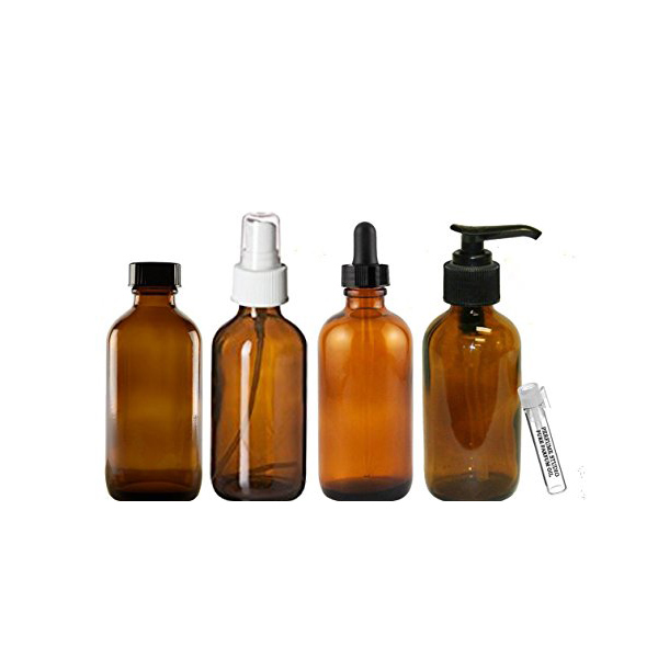 Essential Oil Amber Glass Bottles